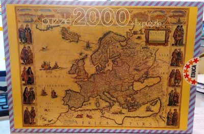 Image of the puzzle 2000, Educa, Europa, by Willem Blaeu, Sealed Bag, Picture of the box