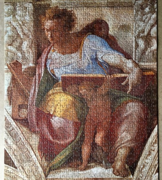 Image of the Assembled Puzzle 1000, Educa, The Prophet Daniel