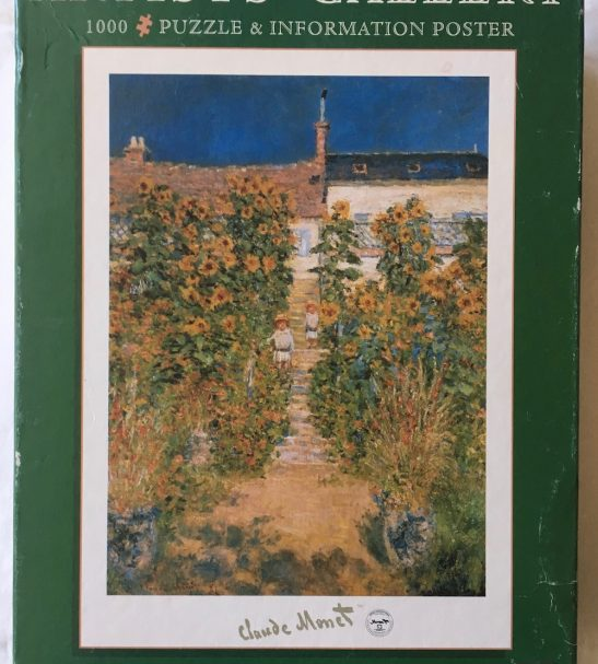 Image of the Puzzle 1000, Jumbo, The Artist Garden at Vetheuil, Sealed Bag, Picture of the Box