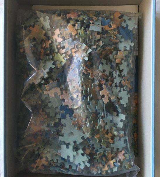 Image of the Puzzle 1000, Jumbo, The Artist Garden at Vetheuil, Sealed Bag, Picture of the Bag