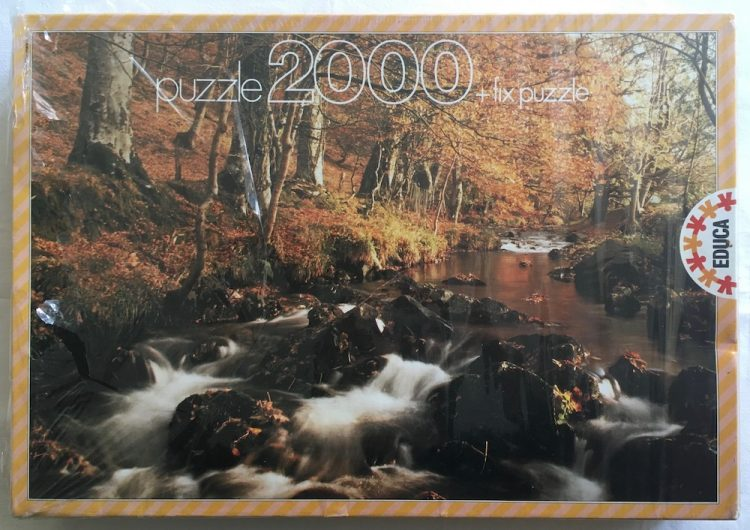 Image of the Puzzle 2000, Educa, Autumn Brook, Factory Sealed, Picture of the Front