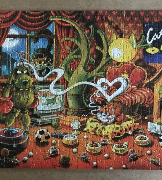 Image of the Puzzle 500, Heye, Cat Dreams, Complete, Picture of the Puzzle assembled
