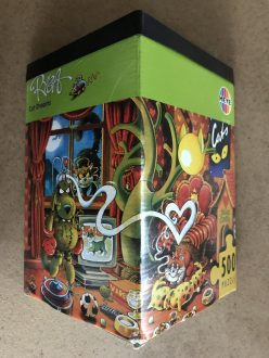 Image of the Puzzle 500, Heye, Cat Dreams, Complete, Picture of the Box