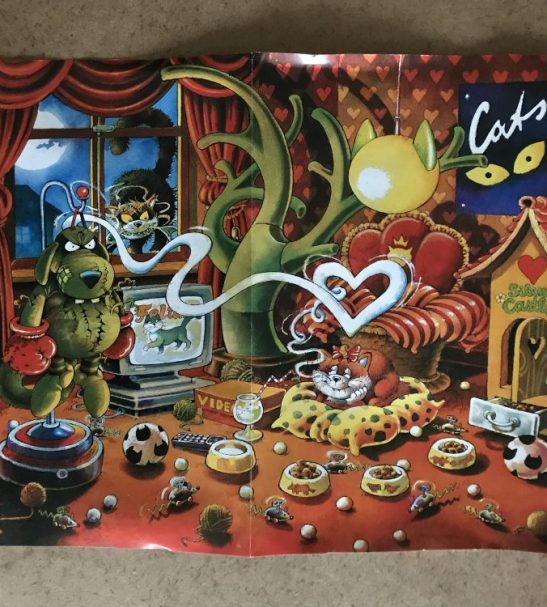 Image of the Puzzle 500, Heye, Cat Dreams, Complete, Picture of the Poster