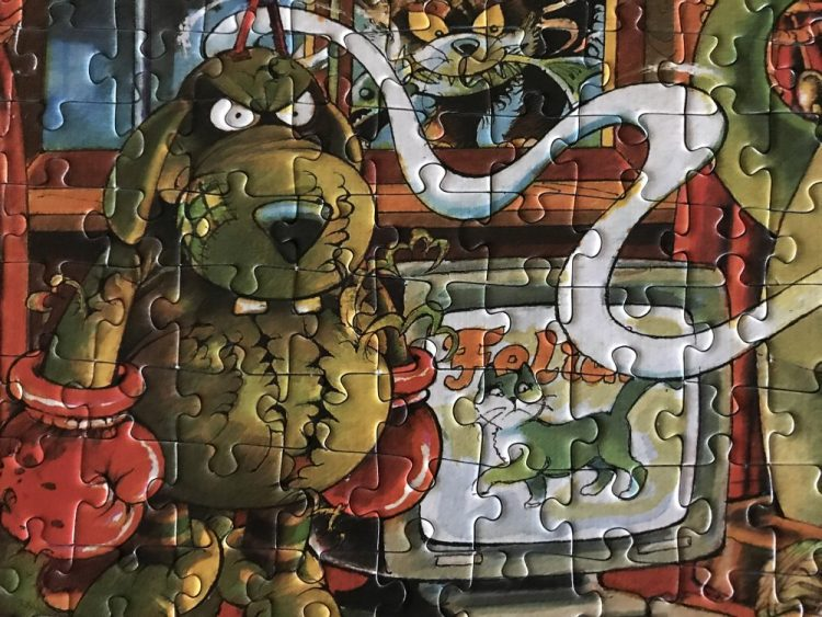 Image of the Puzzle 500, Heye, Cat Dreams, Complete, Detail of the Puzzle