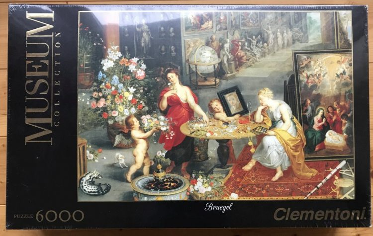Image of the puzzle 6000, Clementoni, Allegory of Sight and Smell, by Jan Brueghel the Elder, Picture of the box