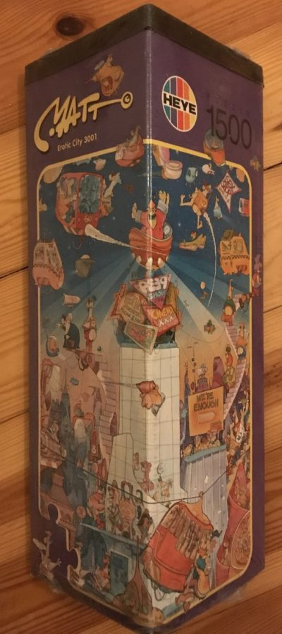 Image of the Puzzle 1500, Heye, Erotic City 3001, Factory Sealed, Picture of the Box