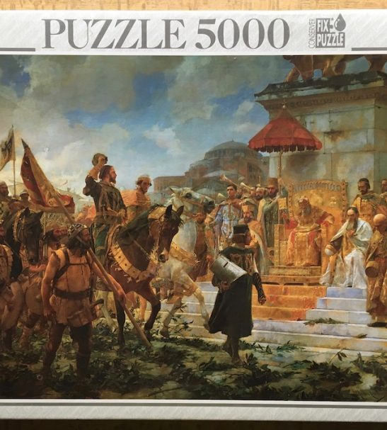 Image of the puzzle 5000, Educa, Entry of Roger de Flor in Constantinople, Factory Sealed, by Moreno Carbonero, Factory Sealed