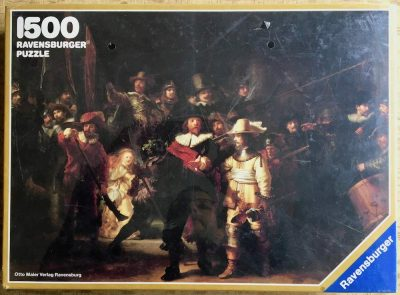 Image of the puzzle 1500, Ravensburger, The Night Watch, by Rembrandt, Factory Sealed