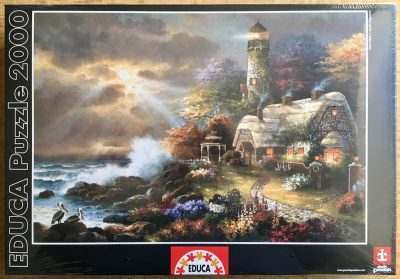 Image of the puzzle 2000, Educa, Heavens Light, James Lee, Factory Sealed