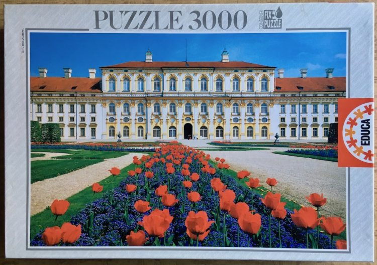 Image of the puzzle 3000, Educa, Schleissheim Palace, Germany, Sealed Bag, Picture of the box