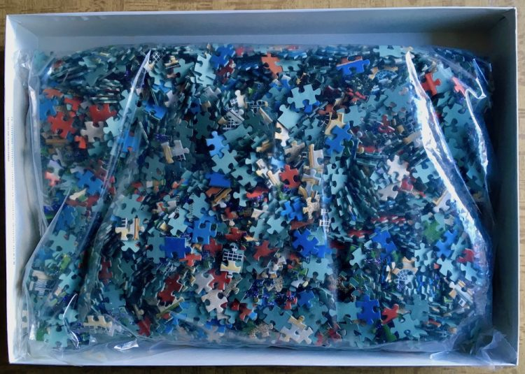 Image of the puzzle 3000, Educa, Schleissheim Palace, Germany, Sealed Bag, Picture of the bag