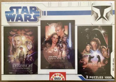 Image of the puzzle 3x1000, Educa, Star Wars Prequel Trilogy, Factory Sealed