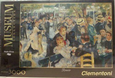 Image of the puzzle 3000, Clementoni, Bal du Moulin de la Galette, by Auguste Renoir, Picture of the box