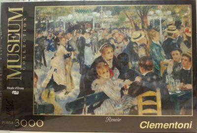 Image of the puzzle 3000, Clementoni, Bal du Moulin de la Galette, by Auguste Renoir, Picture of the box