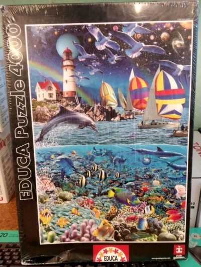 Image of the Puzzle 4000, Educa, A Slice of Life, Factory Sealed, Picture of the Box