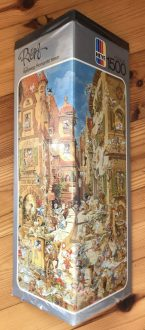 Image of the Puzzle 1500, Heye, Romantic Town, Picture of the Box