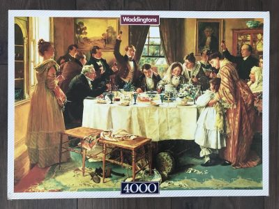 Image of the puzzle 4000, Waddingtons, A Toast to the Bride, by Walter Dendy Sadler, Factory Sealed, Picture of the box