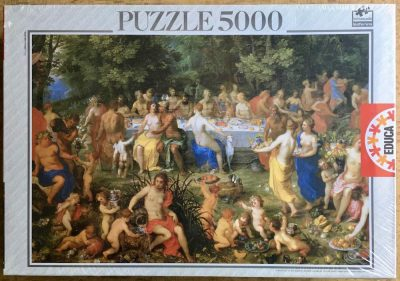 Image of the puzzle 5000, Educa, The Feast of the Gods, by Hendrick van Balen, Factory Sealed