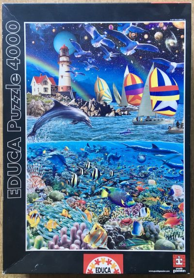 Image of the puzzle 4000, Educa, A Slice of Life, by Royce B. McClure, Picture of the box