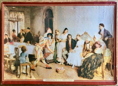 Image of the puzzle 4000, Waddingtons, The Wedding Breakfast, by Eugene de Blaas, Sealed Bag, Picture of the box