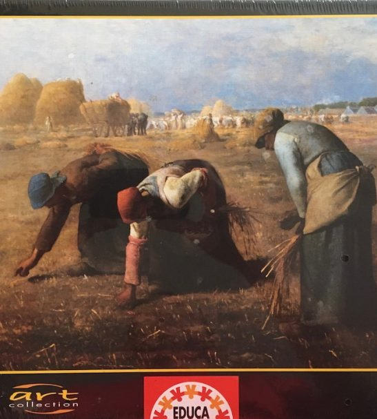 Image of the Puzzle 1000, Educa, The Gleaners, by Jean-François Millet