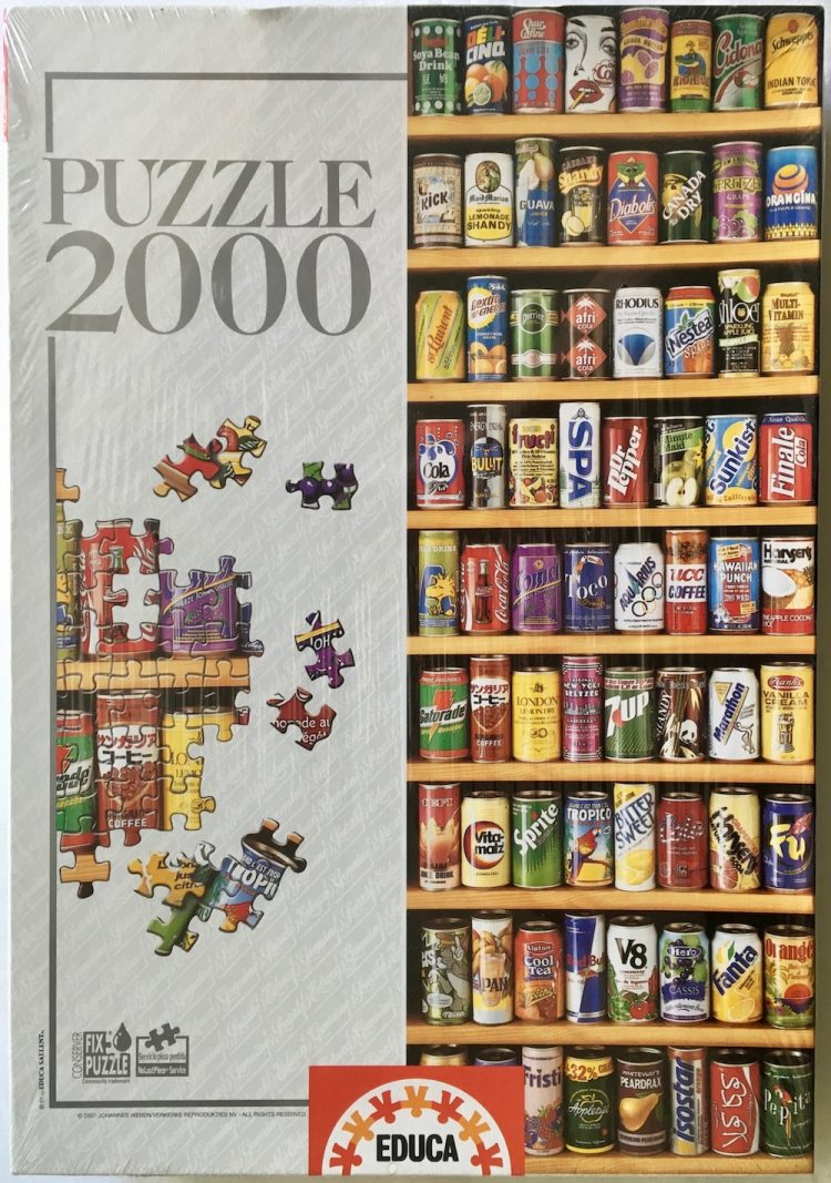 Image of the Puzzle 2000, Educa, Soft Cans, Factory Sealed