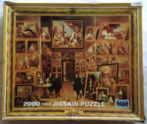 Image of the Puzzle 2000, Hope, The Archduke Leopold William in his Brussels Gallery, by David Teniers the Younger, Picture of the box