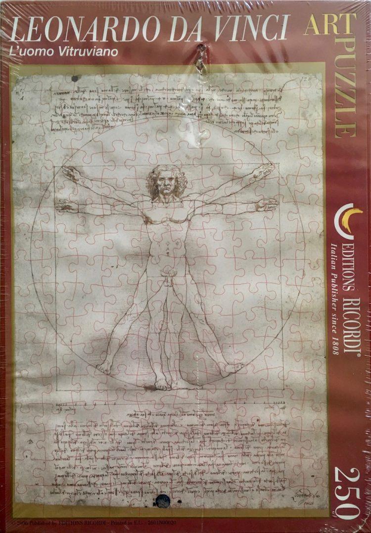 Image of the Puzzle 250, Ricordi, Vitruvian Man, by Leonardo da Vinci, Factory Sealed