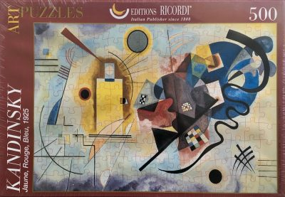 Image of the Puzzle 500, Ricordi, Yellow Red Blue, by Wassily Kandinsky, Factory Sealed