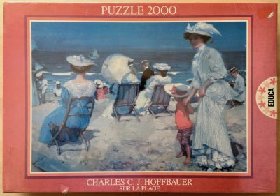 Image of the puzzle 2000, Educa, The Beach, by Charles Hoffbauer, Factory Sealed