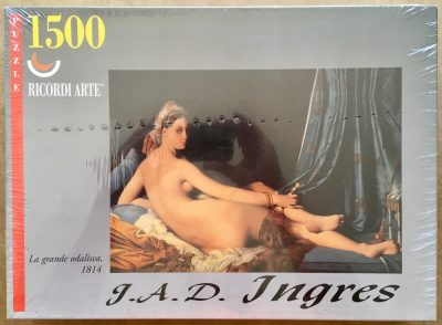 Image of the puzzle 1500, Ricordi, La Grande Odalisque, by Ingres, Factory Sealed