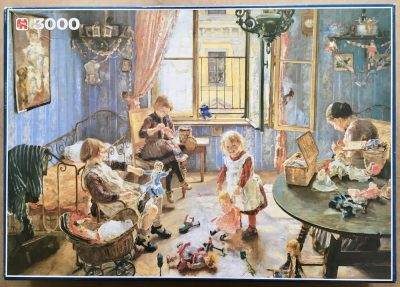 Image of the puzzle 3000, Jumbo, Nursery, by Fritz von Uhde, Complete, Picture of the box