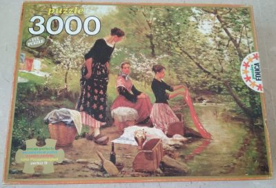 Image of the puzzle 3000, Educa, The Washerwomen, by Joaquim Vayreda, Sealed Bag, Picture of the box