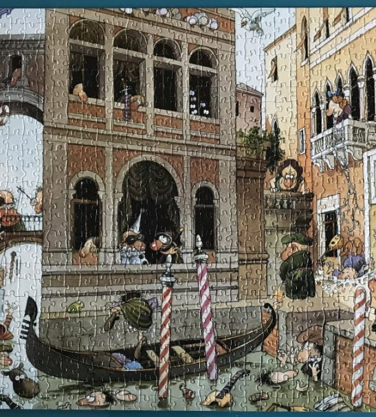 Image of the puzzle 1000, Heye, Canale Grande, by Jean-Jacques Loup, Complete, Picture of the puzzle assembled