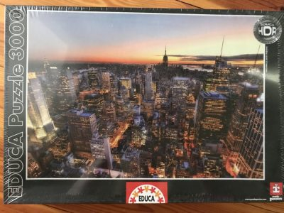 Image of the puzzle 3000, Educa, Manhattan Sunset, Picture of the box