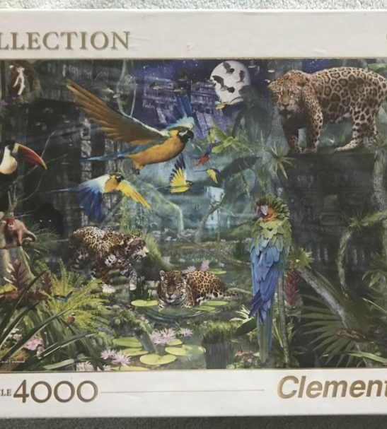 Image of the puzzle 4000, Clementoni, Aztec Forest, David Penfound, Factory Sealed, Picture of the box