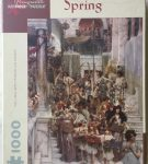 Image of the puzzle 1000, Pomegranate, Spring, by Sir Lawrence Alma-Tadema, Complete, Picture of the box