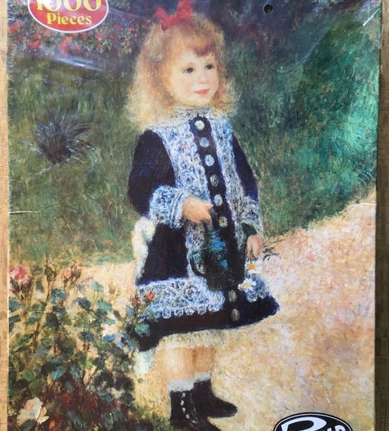 Image of the Puzzle 1000, Philmar, A Girl with a Watering Can, by Auguste Renoir, Factory Sealed