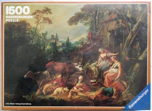 Image of the puzzle 1500, Ravensburger, Rural Idyll, by François Boucher, Factory Sealed