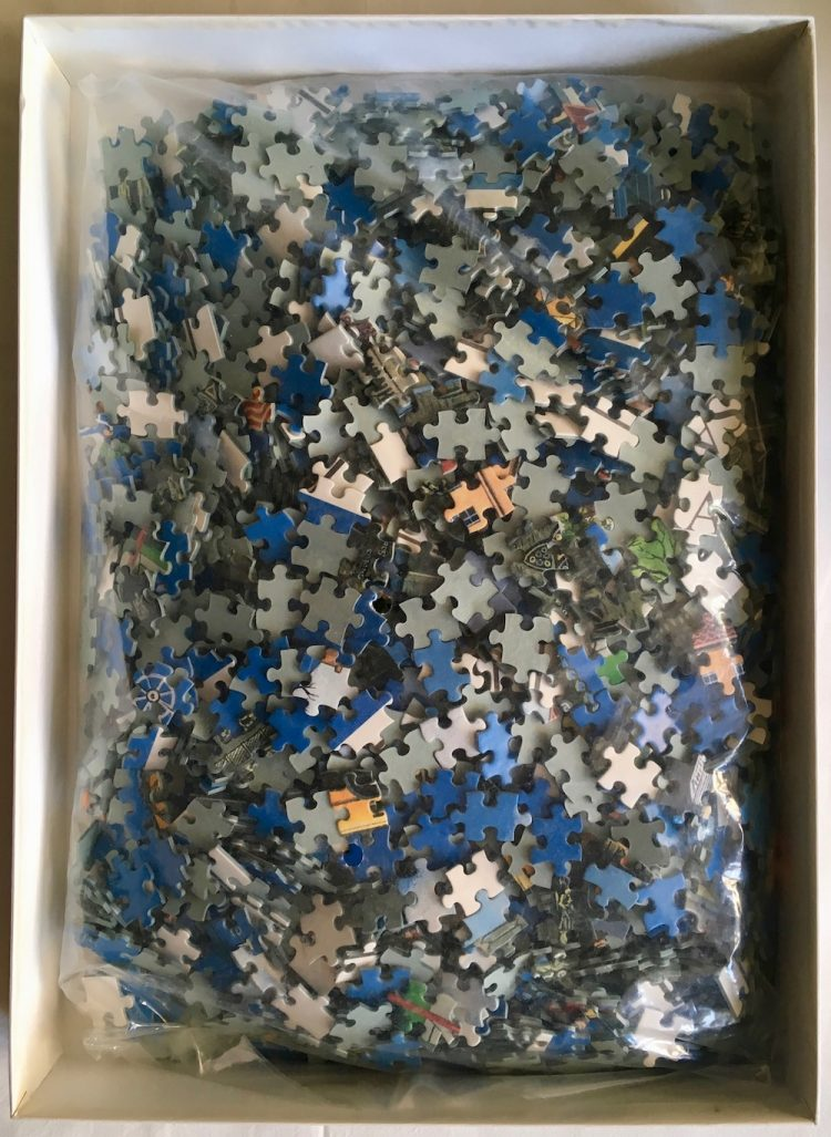 Image of the puzzle 2000, Central Hobby, Sagrada Familia, Sealed Bag, Picture of the Bag