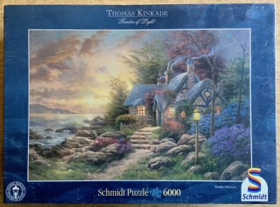 Image of the puzzle 6000, Schmidt, Seaside Hideaway, by Thomas Kinkade, Factory Sealed