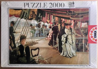 Image of the puzzle 2000, Educa, The Ball Aboard Ship, by James Tissot, Factory Sealed