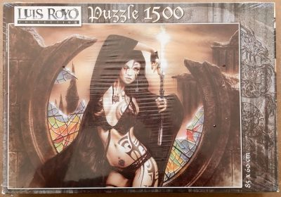 Image of the puzzle 1500, Educa, The Goddess Ama-No-Uzume and Dawn, by Luis Royo, Factory Sealed