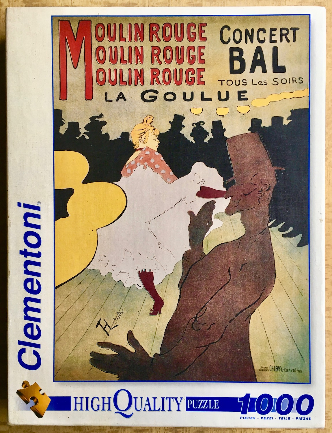 Image of the puzzle 1000, Clementoni, Moulin Rouge, by Toulouse-Lautrec, Picture of the Box