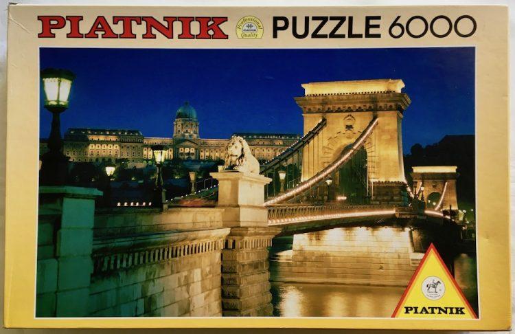 Image of the puzzle 6000, Piatnik, Chain Bridge, Budapest, Sealed Bag, Picture of the box