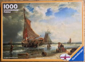 Image of the puzzle 1000, Ravensburger, Fisherfolk on Scheveningen Beach, Carl Frederik Sørensen