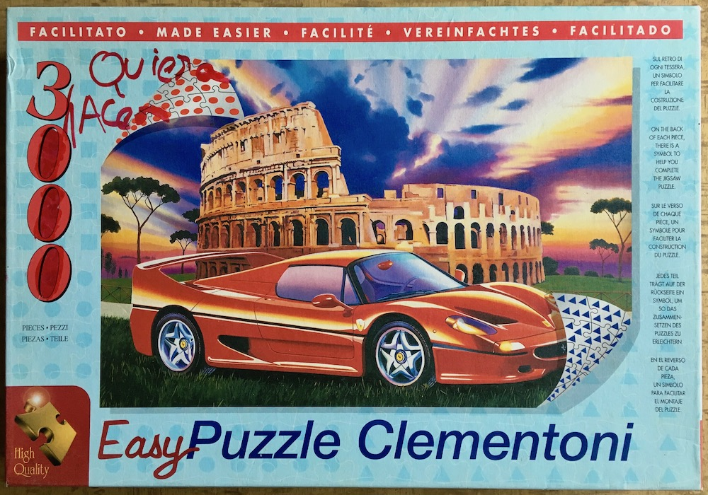 Image of the puzzle 3000, Clementoni, Ferrari F-50, Sealed Bag, picture of the box