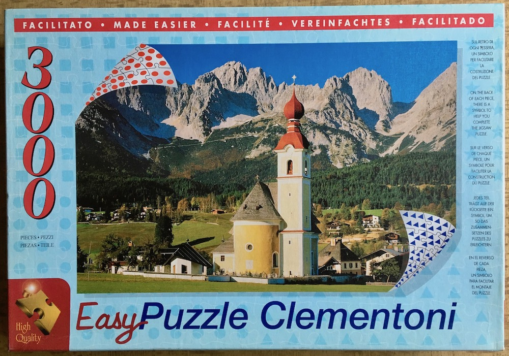 Image of the puzzle 3000, Clementoni, Tyrol, Austria, Sealed Bag, Picture of the box