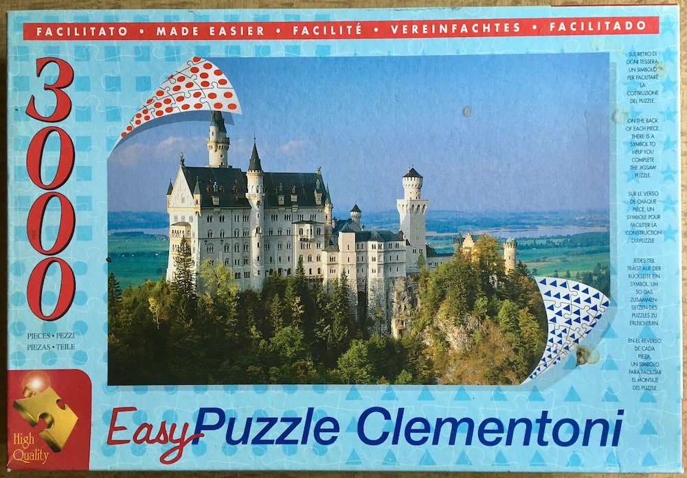 Image of the puzzle 3000, Clementoni, Neuschwanstein Castle, Sealed Bag, picture of the box